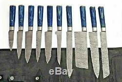 Knife Set 10 Kitchen Chef Damascus Steel Knives Sharp Cleaver Gift Knife