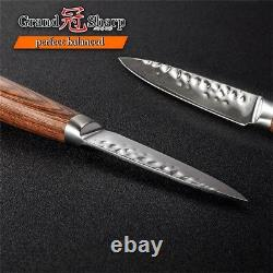 Knife Set 2 pcs Chef Paring Knife Japanese Damascus vg10 Steel Kitchen Knives
