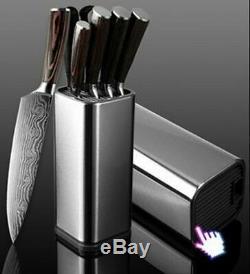 Knife Set 8 Kitchen Chef Japanese Damascus Steel Knives $harp Cleaver Gift Knife