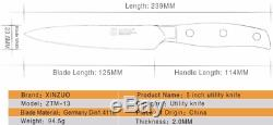 Knife Set Chef Knives Layers Japanese German Steel Kitchen Wood Handle 6PCs Edge