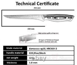 Knife Set Chef Santoku Boning Utility Knives Japanese Damascus Steel 67 Layers 4