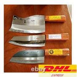 Knives Set Clever Knife Blade Steel Wooden Handle Kitchen Wood Utensils Chopper