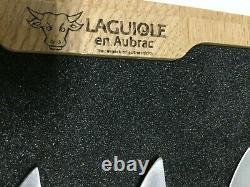 Laguiole En Aubrac Steak Knives Olivewood Handle Stainless Steel Set of 4