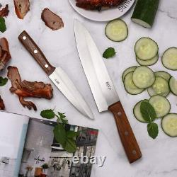 Luxe Chef Knife 2 PIECE Stainless Steel 8 Chef's Knife Set with Case 5+8 Inch