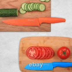 Luxe FUN COLORS Premium Knife Set High Carbon Stainless Steel 10 Pieces Colorful