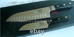MAC MS-46 Pro Series 2pcs Set Santoku Knife MSK-65 SK-40/Molybdenum Silver steel