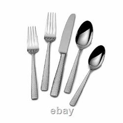 Mikasa Oliver 65-Piece 18/10 Stainless Steel Flatware Set Service for 12