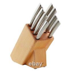 NEW 18383 SCANPAN CLASSIC 9 Piece Stainless Steel Knife Block Set 9pc