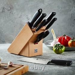NEW Zwilling Four Star Knife Block Set B 8pce