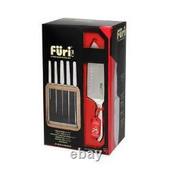 New FURI PRO Vault Stainless Steel 6pc Knife Block Set 6 Piece