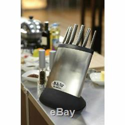 New Global Synergy 7pc Knife Block Set Stainless Steel Japanese Knives