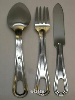 New Usgi Mess Kit Silverware Set Spoon Knife Fork Utensils Stainless Steel