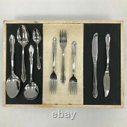 Oneida Cutlery Set Service For 6 Canteen Solid Stainless Steel In Case 173070