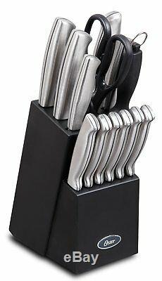 Oster Baldwyn Cutlery Block Set Knife 14 pc Stainless Steel Kitchen Knives, NEW