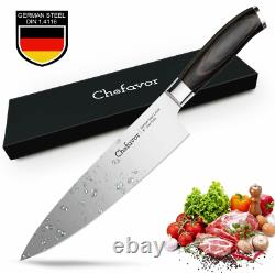 PRO Chef Knife GERMAN CARBON STEEL 8 Chef's Knife Set 8 Inch FORGED HIGH CARBON