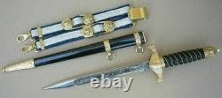 Perfect Bulgarian Police Officer Parade Dagger Set 2003, dirk blade knife UNIQUE