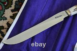 RANDALL MADE KNIVES KNIFE MODEL 6-9 CARVING SET withFORK, STEEL, SHEATH CASE STAG