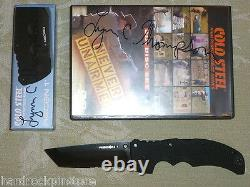 RARE 300 SIGNED Cold Steel XHP Recon 1 Tanto Point DLC Knife 27TLCTH + 6 dvd SET