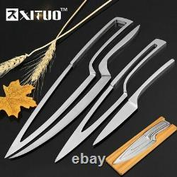 Set Kitchen Knife for Chef Stainless Steel 4pcs Juego de Cuchillos para Chef Pro