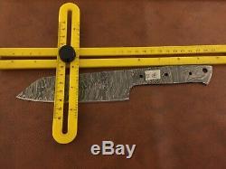 Set of 3 Handmade Damascus Steel Chef-Kitchen Blank Blade-Knife Making-K18