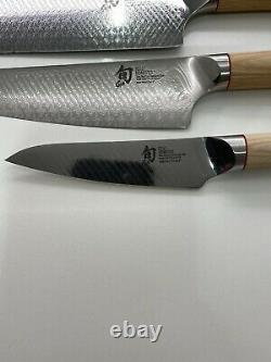 Shun Hikari 6 Piece Knife Set Shun Dual Core Damascus Steel