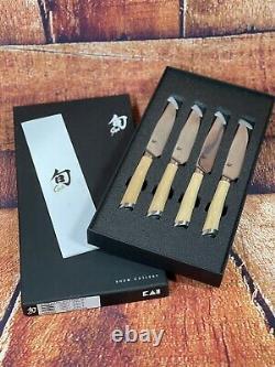 Shun Hikari Steak Knife Set of 4 Knives 5HDMS0430 BRAND NEW