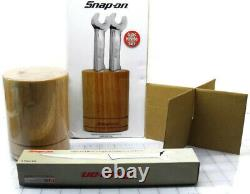 Snap-On Tools Stainless Steel 6Pc Wrench Handle Steak Knife Set with Wood Block