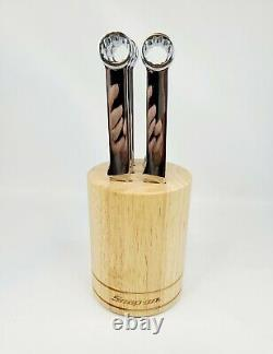 Snap On Wrench Stainless Steel 6 Piece Knife Set with Wood Block