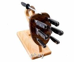 Spartan Knife Set Chef's Edition 8-piece, Handmade, Heavy Steel Professional