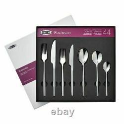 Stellar Rochester 44 Piece Cutlery Set Mirror Polished 18/10 S/Steel Dishwasher