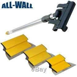 TapeTech Drywall Finish Smoothing Blade Set 10-12-14 Knives + Extension Handle