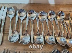Vintage Quantity 80 items Viners Stainless Steel Mid Century Modern Cutlery