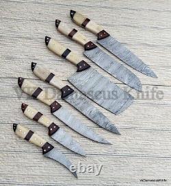 Vk4152 Handmade Damascus Steel Professional Home Chef Kitchen Knife Set