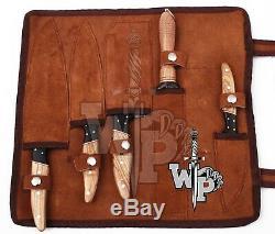 WP-007 Custom Handmade Damascus Professional kitchen Chef knives set-5-Piece