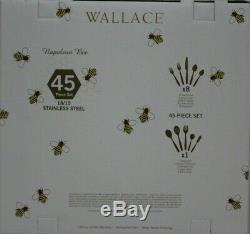 Wallace Napoleon Bee 18/10 Stainless Steel 45 piece Flatware Set