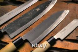 Watanabe blade handmade kitchen knife 4 points set Handmade Japan