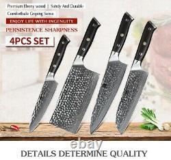XINZUO 4PCS Kitchen Knife Chef Set VG10 Damascus Stainless Steel