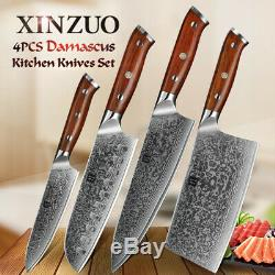 XINZUO kitchen knife sets 4 pcs damascus steel professional chef cookingCutlery