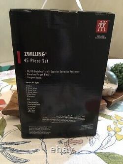 ZWILLING J. A. Henckels Bellasera 45-pc 18/10 Stainless Steel Flatware Set