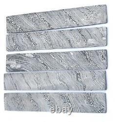 10 Inc Damascus Steel Blank Billet For Knife Making Set Of 5 Handmade