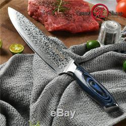 3pcs Damas Ensemble De Couteaux 67 Couches Japonais Damas Acier Vg10 Chef De Grandsharp