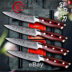 4 Pièces Sets De Couteaux À Steak Vg10 Japonais De Cuisine En Acier Inoxydable Ensemble De Couteaux