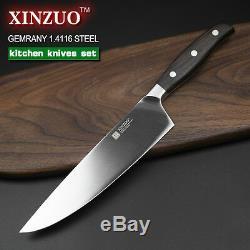 5pcs Set Couteaux Pouces Couches Couteau De Chef Japonais Damas Cuisine En Acier Sharp L