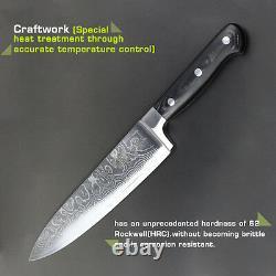 5pcs Set Knives Pouces Couteau Chef Couches Japonaises Damas Cuisine En Acier Sharp L