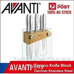 6pc Avanti Tempo Bloc Couteaux Set / Allemand En Acier Inoxydable / Chef / Couteaux De Cuisine