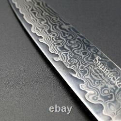 6pcs Japonais Damascus Steel Chef's Knife Sets Cleaver Trancher L'ensemble Couteau De Cuisine