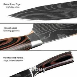 8 Couteaux De Couteaux En Acier Inoxurable De 8 Pc Par Vertoku (40% De Réduction)