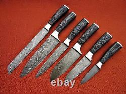 Accrocheur Custom Made Damas Couteau De Cuisine En Acier Professionnel Mis -db-049-6