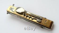 Acier Énorme Fait Main Vintage Inoxydable Pliant Couteau De Poche Urss Set Outils