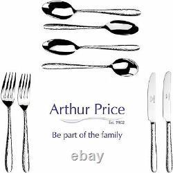 Arthur Price Gift Set Monsoon Mirage 44 Pce Cutlery Set 6 Place Acier Inoxydable